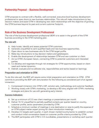 business development partnership proposal