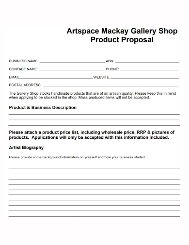 business product price proposal