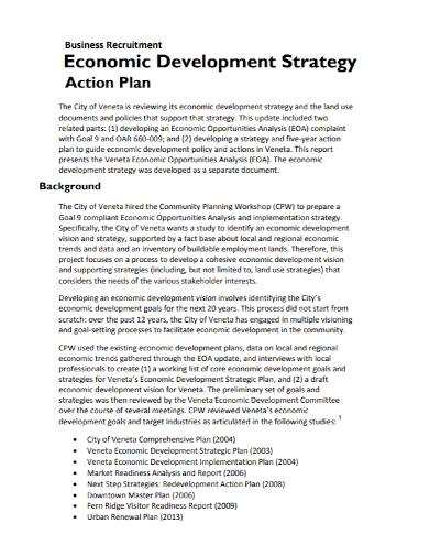 business recruitment development strategy plan
