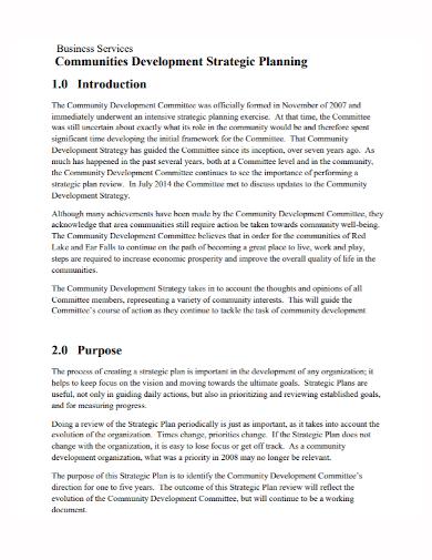 business services development strategy plan
