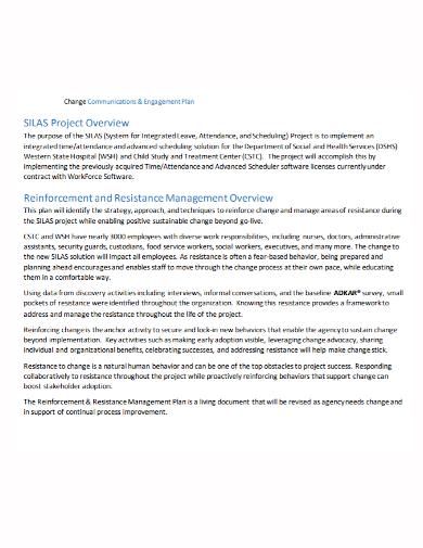 change resistance project management plan