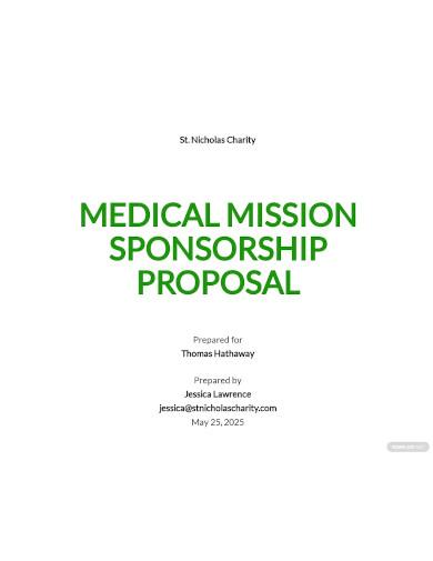 charity sponsorship proposal