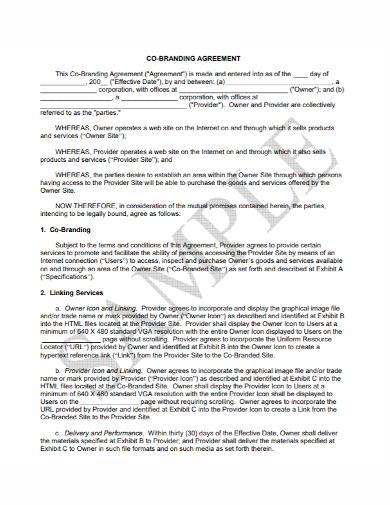 co branding agreement