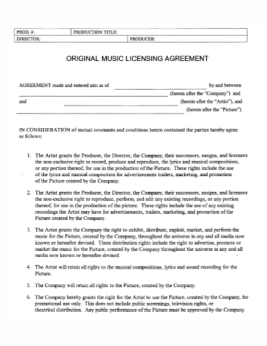company music license agreement