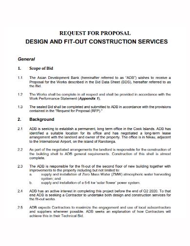 construction design services proposal
