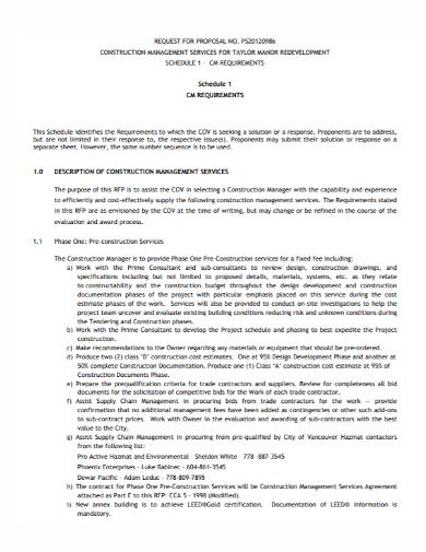 construction development services proposal