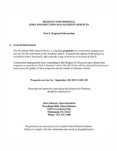 construction management services proposal