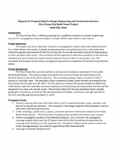 construction project services proposal