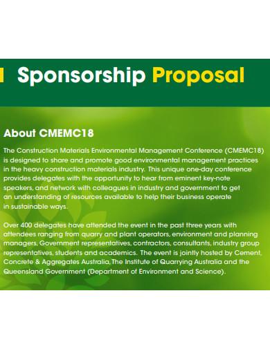 construction sponsorship proposal example