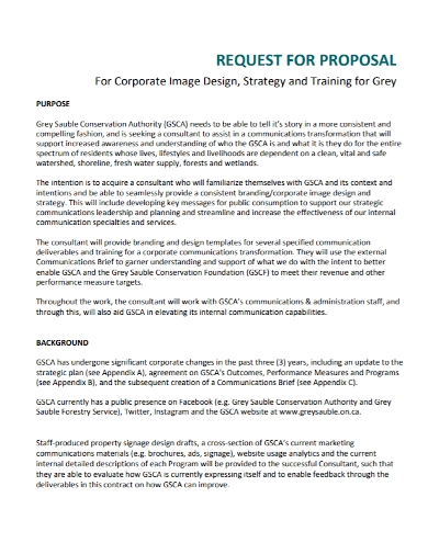 corporate design strategy training proposal