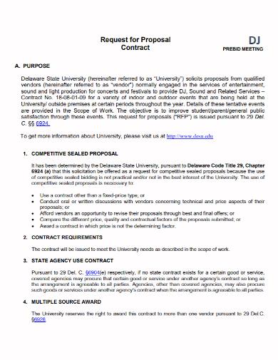 dj bid contract proposal