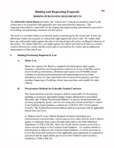 dj bid purchase proposal