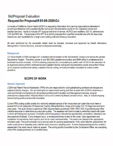 dj evaluation bid proposal