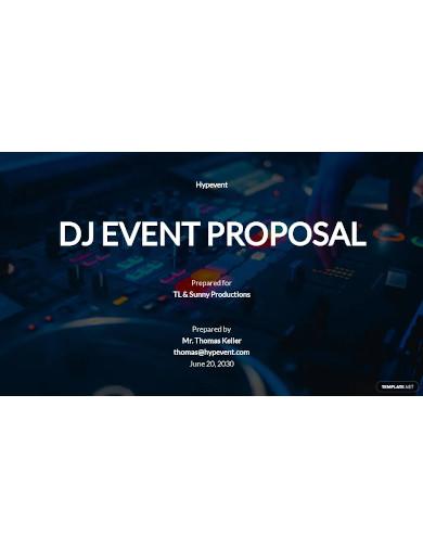 dj event proposal