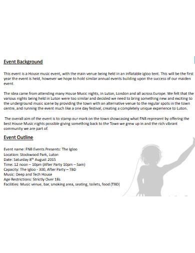 dj event sponsorship proposal