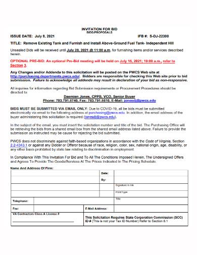 dj invitation bid proposal