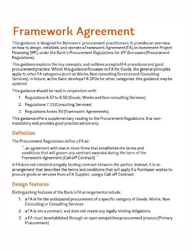 design framework agreement