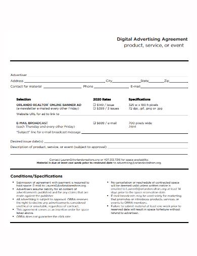 digital marketing advertising services agreement