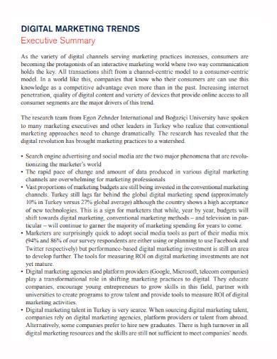 digital marketing trends executive summary