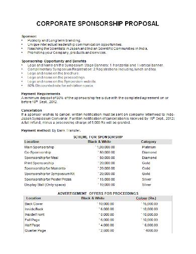 editable corporate sponsorship proposal