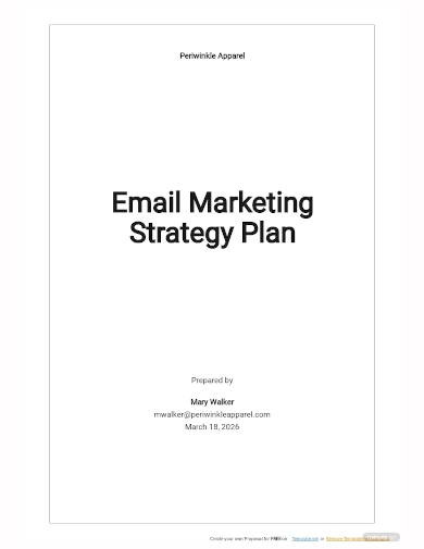 email marketing strategy plan template