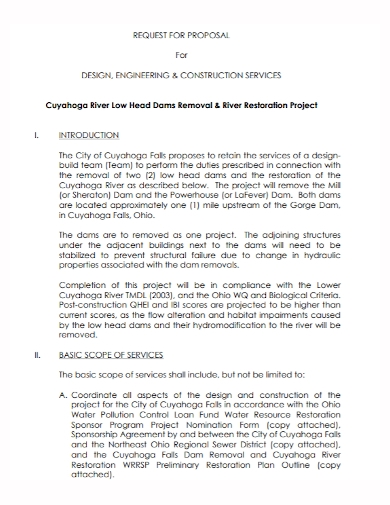 engineering construction services proposal