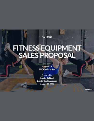 equipment sales proposal template