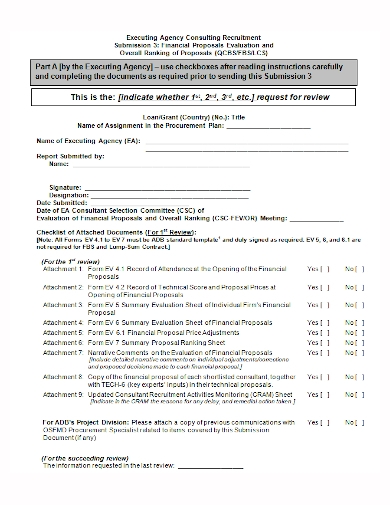 financial agency consulting recruitment proposal