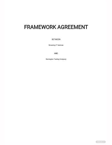 framework agreement template