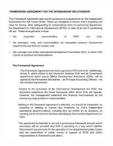 framework sponsorship agreement