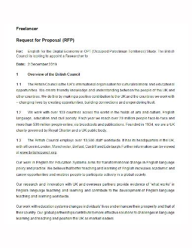 freelancer request for proposal