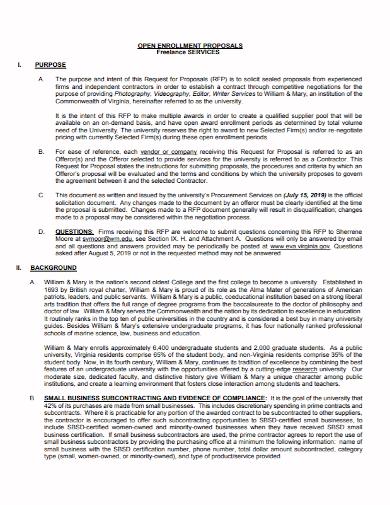 freelancer services enrollment proposal