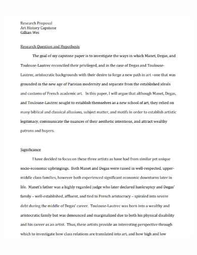 history art research proposal