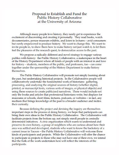 history collaborative proposal