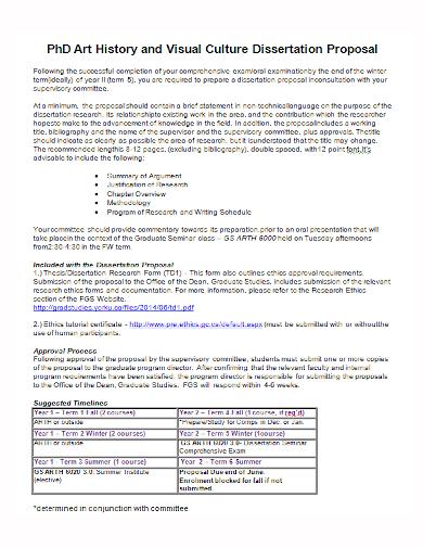 history culture dissertation proposal
