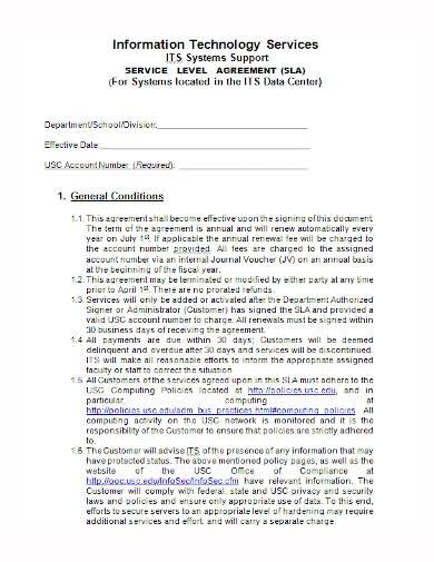 it system service agreement