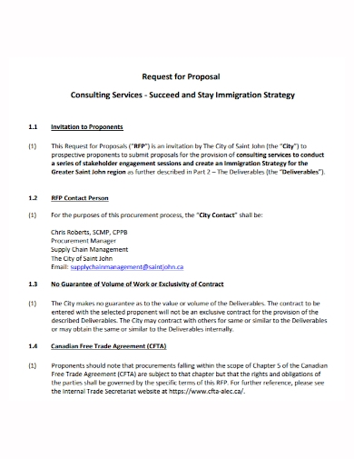 immigration strategy consulting proposal