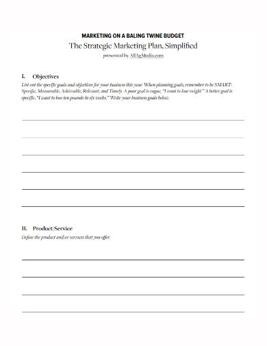 marketing budget strategy plan