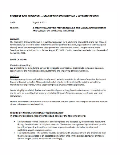 marketing consulting design proposal