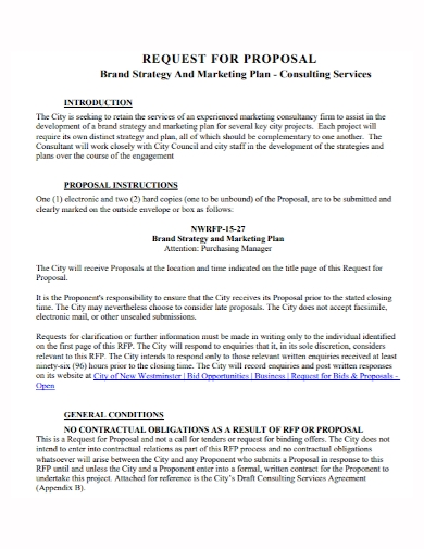 marketing plan consulting services proposal