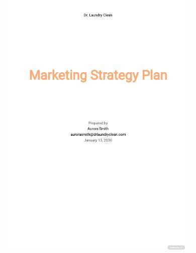 marketing strategy plan template