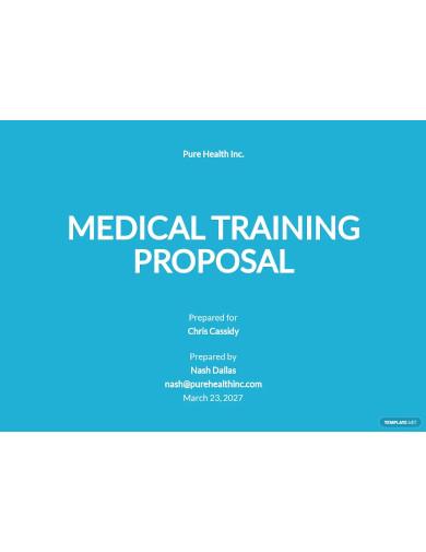 medical training proposal