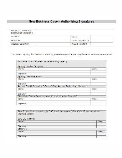 new business case proposal