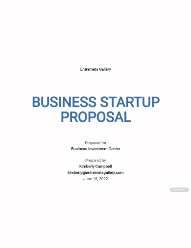 new business startup proposal template