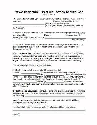 option to lease purchase agreement