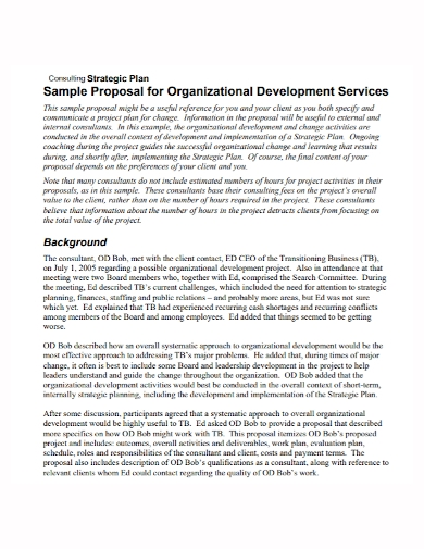 organizational strategy consulting proposal