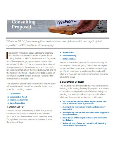 printable business consulting proposal