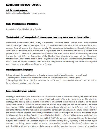 printable partnership business proposal