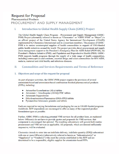 product supply management proposal