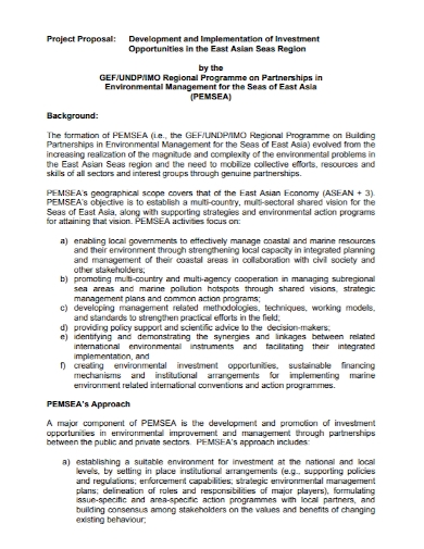 project investment implementation proposal